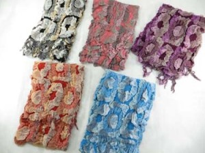 Large circle design winter muffler knitted scarves, ruffle bumpy bubble shawls. Double layers, 3D, textured, reversible, chunky, soft, thick, warm and cozy fringed scarves and wraps