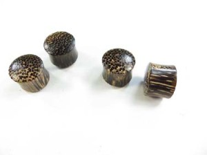 Double Flared Coconut Wood Plug Earlets. Natural wood plugs for large stretched piercings