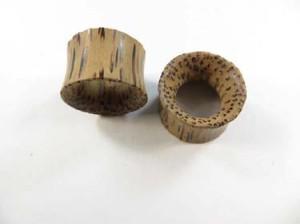 Ear Plugs Flesh Tunnels Guage Organic Natural Double Flared Coco Wood Saddle