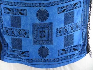blue celtic pareo sarong