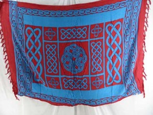 red and blue celtic pareo sarong
