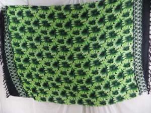 green florals garden summer apparel sarong