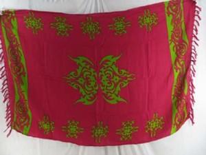 green tattoo fuchsia pareo canga surong
