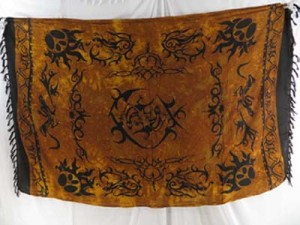 brown tattoo primitive tribe designs sarong dress tankini cover-up