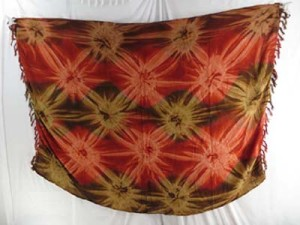 star burst light brown and dark brown tie dye clothing for women