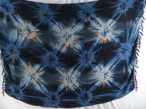 star burst dark blue and light blue wholesale fashion dresses tie-dye sri pareo