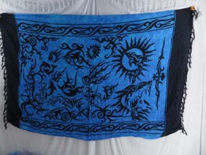 blue tribel tattoo pareo sarong wrap swimwear