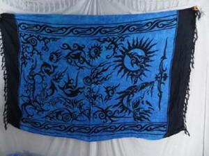 blue tribel tattoo pareo sarong wrap swimwear
