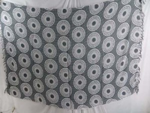 grey sarong with coin circles