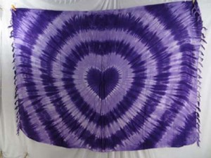 purple heart swirl tie dye sarong bikini coverup luau cruise dress