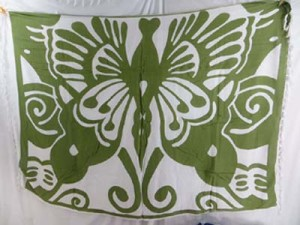 summer dresses sarong large green butterfly on white background
