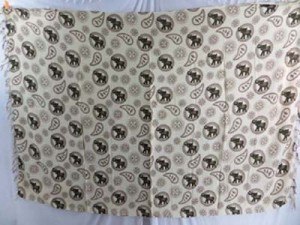Bali Indonesia rayon clothing brown elephant on white background