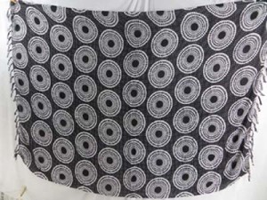 sarong scarf shawl grey black coin circle
