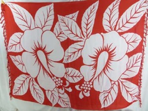 white giant hibiscus flower sarong hawaiian pareau with assorted color backgrounds mixed designs randomly picked by our warehouse staffs