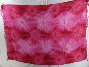 star burst tie dye sarong light pink dark pink