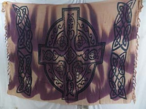brown earth celtic cross sarong