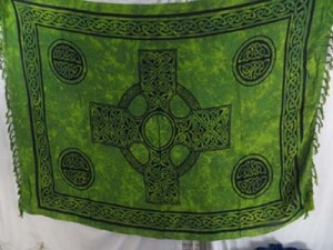 green celtic sarong mixed designs