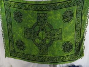 green celtic sarong mixed designs