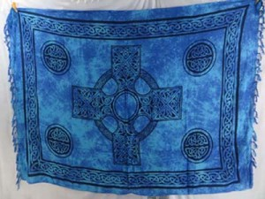 Blue celtic knot sarong wraps wiccan tapestries pagan wall hangings celtic wall art mixed designs randomly picked by our warehouse staffs