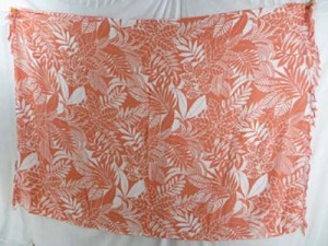 orange and white floral and leaf sarong resort wear dresses