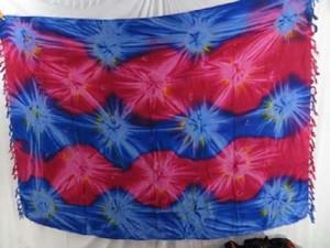 pink blue star burst summer dresses tie dye sarong apparel