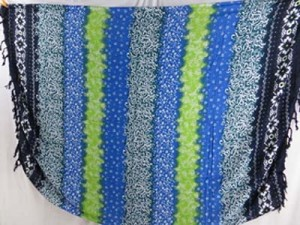 hippie boho clothing blue green stripes