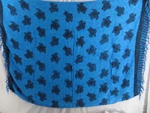 blue turtle sarongs