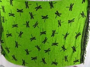 green dragonfly sarong