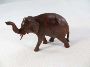 trunk up lucky elephant wooden statues elephant woodcarvings