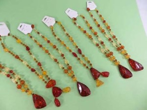 faux amber sweater necklaces