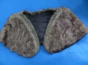 Faux fur stole wrap with polyester lining