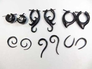 horn earrings natural jewellery wholesale bulk lot