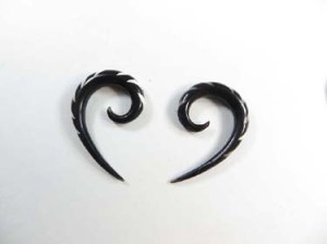 Wholesale Organic Body Jewelry Ethnic Tribal Horn Hanger Earrings