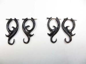 organic horn drop earrings with pegs Fits regular pierced ears.