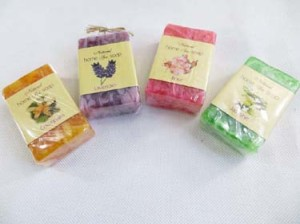 aromatic natural home spa soap handmade in Bali Indonesia. Aroma include chempaka, lavender, jasmine, rose.