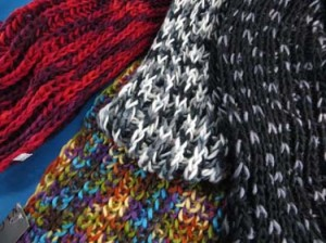 Multiple tones 2-loop knit infinity scarf, circle loop long shawl wrap, cowl neck scarf, circular endless scarf, eternity winter neckwamer. Soft, warm, cozy and stylish. Can be worn in quite a few ways