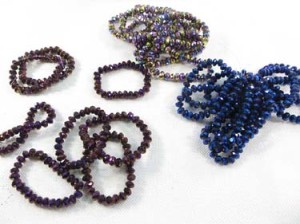 fashion adjustable stretchy beaded bracelets wiith metallic finish