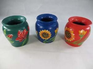 Bali handmade hand-painted wooden vase