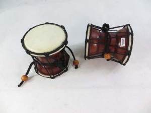 two-sided handheld doble drum wooden percussion musical instrument