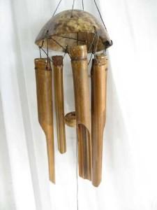 small size plain bamboo windchime garden windchime