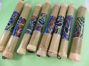 16 inches hand-painting tribal design bamboo rainstick