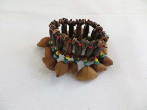 handmade Chajchas rasta Jamaican reggae style nuts shaker hippie rock punk musical instrument, percussion instrument worn as anklet or bracelet