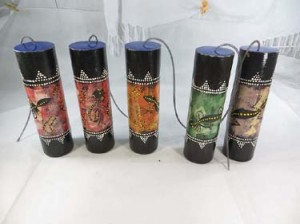 large size tribal animal pastel handpainted thunder drum, thunder-maker, spring drum, thunder tube, thunder shaker, thunder stick, storm maker, thunder boomer
