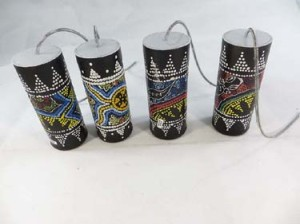 small size tribal animal thousand-dot handpainted thunder drum, thunder-maker, spring drum, thunder tube, thunder shaker, thunder stick, storm maker, thunder boomer
