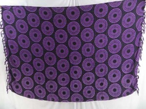 wholesale hippie clothes lava-lava mundu sarong purple with coin circles
