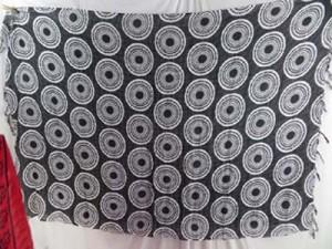 sarong clothes grey color with coin circles