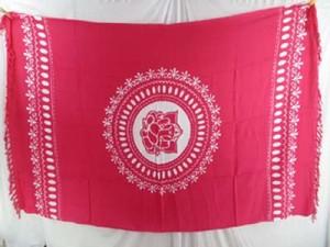 pinkish red mandala Ganesh (Ganesha, Ganpati) yoga tapestry, wall hanging art, bedspread, coverlet, shawl scarf