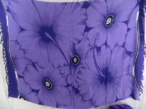 giant hibiscus flower purple sarong