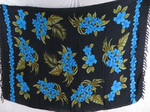 blue flower black sarong wholesale travel clothes