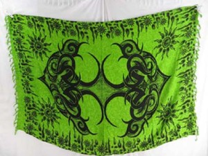 green beachwear dresses tattoo sarong